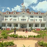 A ribbon cutting ceremony was held Thursday for the maze on the front lawn of the Stanley Hotel.