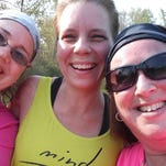 Ursula DiPasquale, left, of Rochester, founder of the new west side Moms in Motion chapter with members Jennifer John of Greece, center, and Jeannette Conderman, of Greece, right, after a run at Basil Marella Park in Greece.