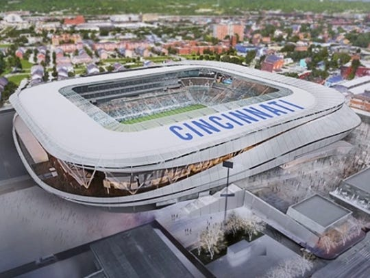 FC Cincinnati West End stadium rendering