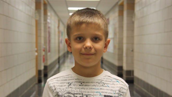 Romeo Hime, third grade student at Johnson City Intermediate School.