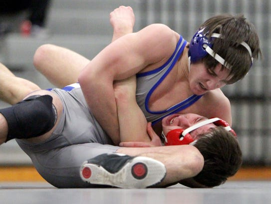 In their matchup at 125 during Wednesday's district