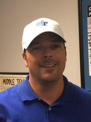 MTSU men's golf coach Mark McEntire