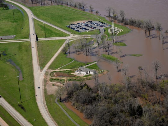 Flooding at Stoner Boat Launch in the 2016 flood.