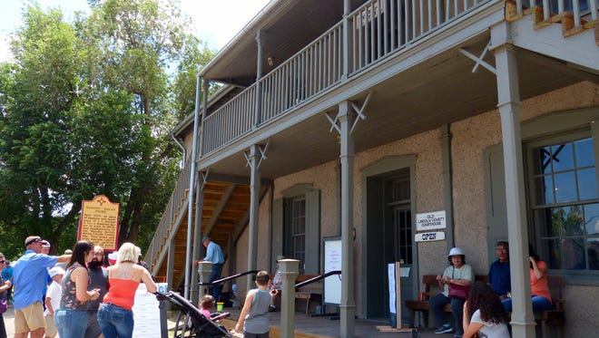 The courthouse at Lincoln draws visitors to see where the outlaw Billy the Kid killed two lawmen in his escape from jail.