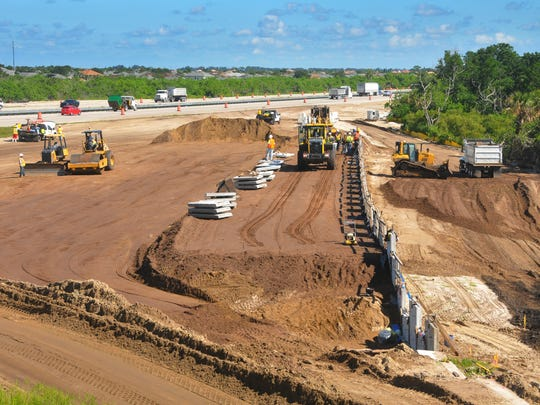 "Construction of the $17 million Viera Boulevard ""diverging"