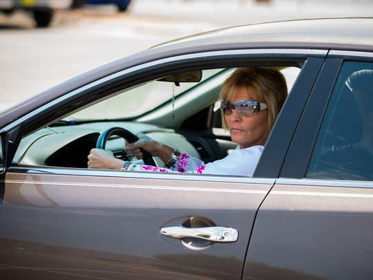 Yvette Schultz re-enacts her experience with road rage
