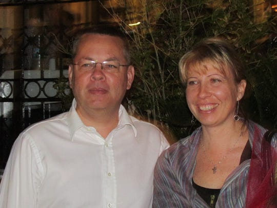 Pastor Andrew Brunson and his wife, Norine