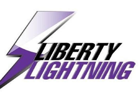 Liberty Lightning logo for Liberty High School.