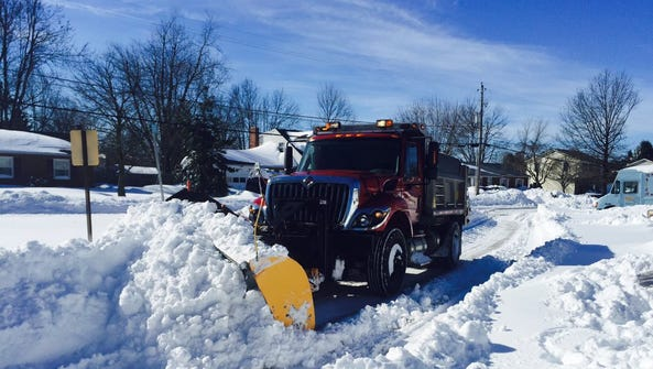 Residents cheered as a Shrewsbury Township plow truck