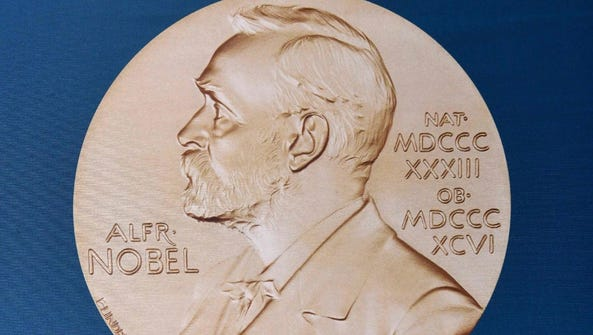 A portrait of Swedish inventor and scholar Alfred Nobel