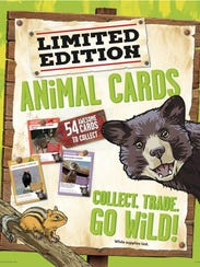 Animals of America cards will be available at Winn-Dixie