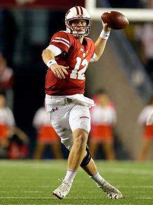 Redshirt freshman Alex Hornibrook has started nine games for the Badgers this season.