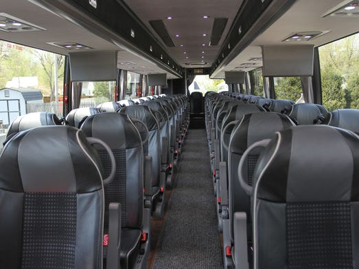 <p>Marsh Travel's new custom-built motorcoach 53 seats instead of the industry standard 57 to 61, so passengers get more legroom.</p>