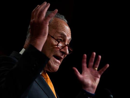 El líder de la minoría demócrata en el senado, Chuck