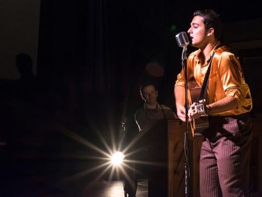 Morgan McDowell as Elvis Presley in Old Creamery Theatre's