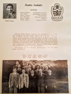 Yearbook article featuring Robert Ishiguro, the founder of Frater Sodalis.