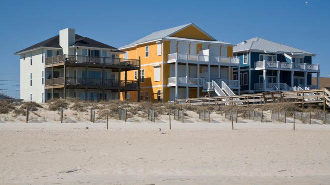 Houses on the beach in the Outer Banks, N.C.