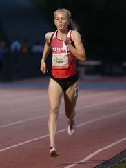 North Rockland's Katelyn Tuohy won the 3,200-meter