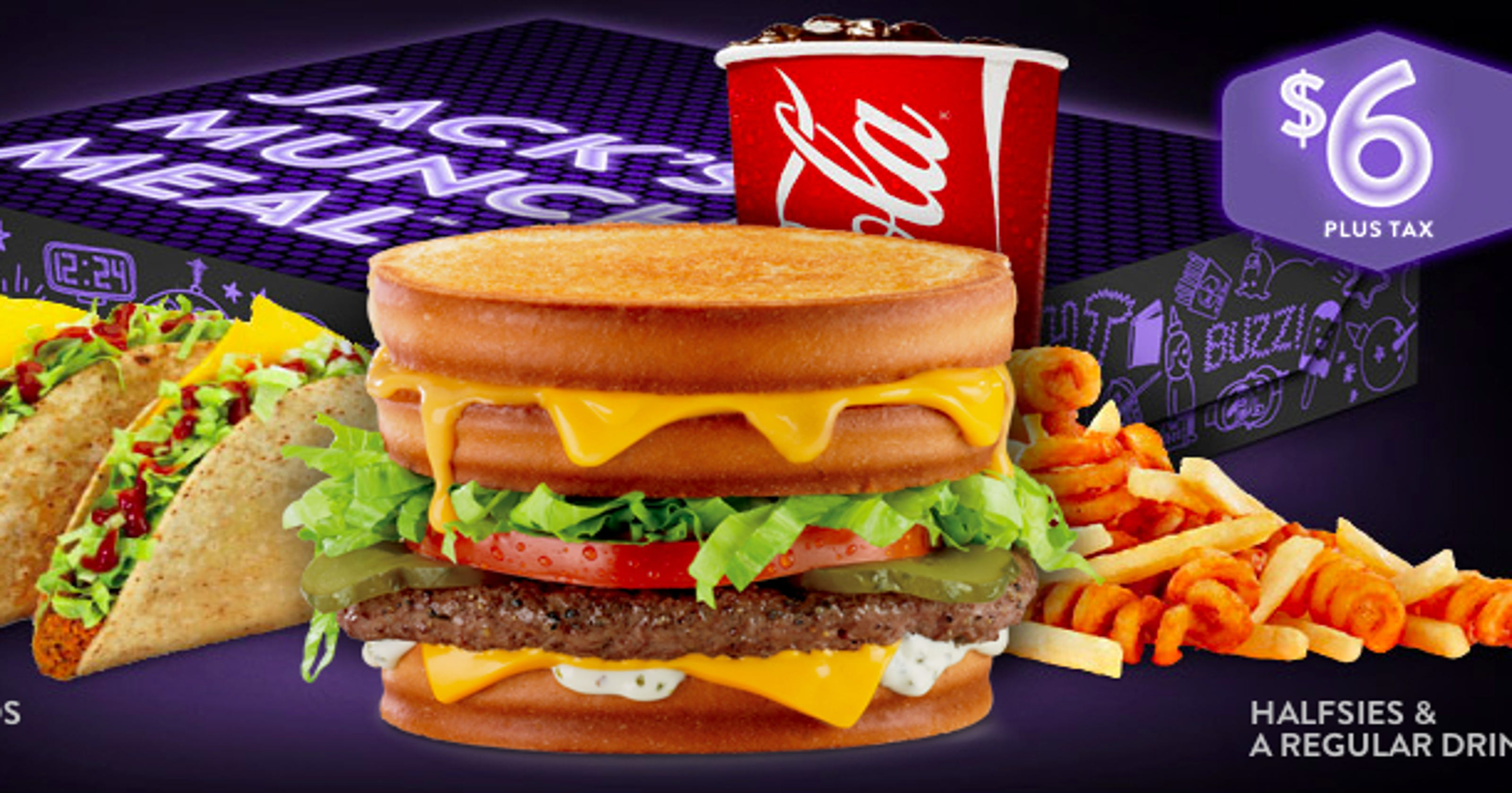 late-night munchies go wild at jack in the box