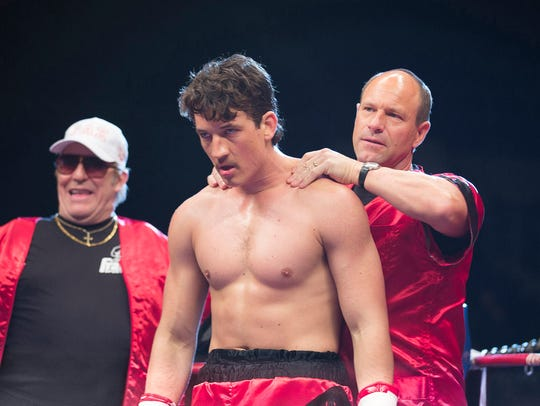 """Ciaran Hinds, Miles Teller and Aaron Eckhart in """"Bleed"""