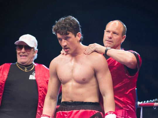 """Ciaran Hinds, Miles Teller and Aaron Eckhart in """"Bleed for This."""""""