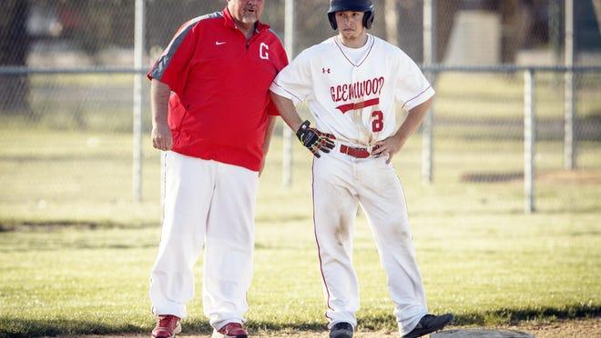 Chatham Glenwood High School baseball coach Pat Moomey, left, is The State Journal-Register's Lifetime Achievement Award winner.