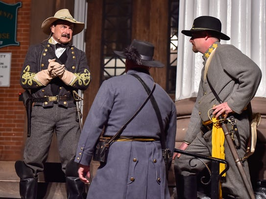 Actors reenact events that led up to the Burning of