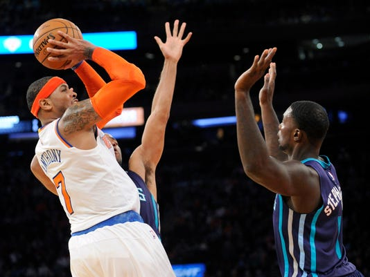 Hornets Knicks Basketball
