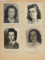 A page from artist David Friedmann's album. A photo of the portrait of Zuzana Anita Klein Barter at age 9 is at the top left.