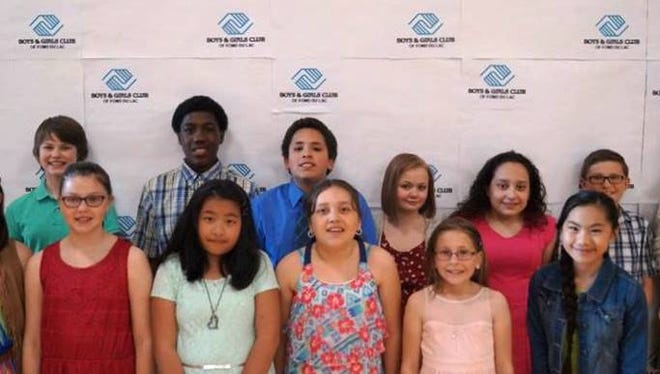 Some award winners from the Boys & Girls Club are, front row, from left: Rylee Pritchard, Emma Way, Alisha Xiong, Yajaira Lopez, Katie Ziegler and Makayla Lee; Back row, from left:  Autumn Smet, Tori Schmidt, Zyshonne Altman, Bryan Aviles, Jaedlyn Giese, Paulina Lopez, Tanner Dalske and Isabel McLeod.