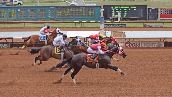 Feature Moonflash qualified for a quarter horse stakes