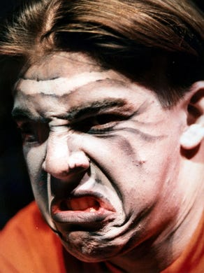 1994: Scare-actors get their makeup treatment before Great Adventure Fright Fest.