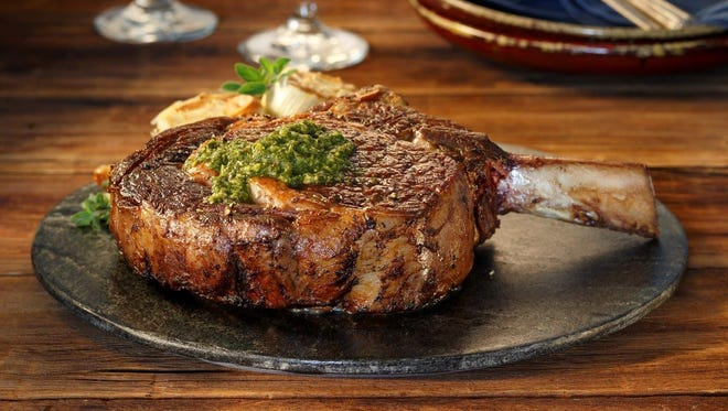 Make dad a Cowboy Chop with Chimichurri Sauce for Father's Day.