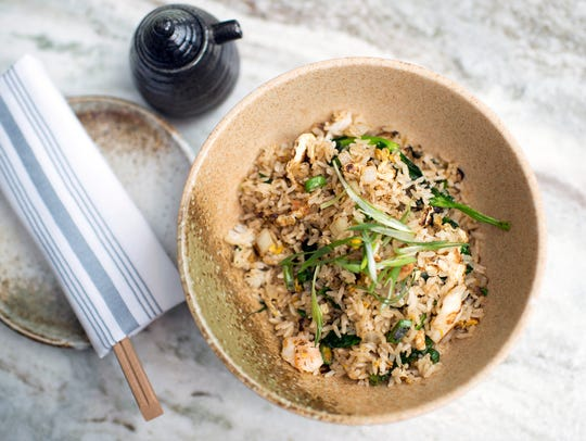 A lobster fried rice dish from Tuna Bar in Philadelphia.