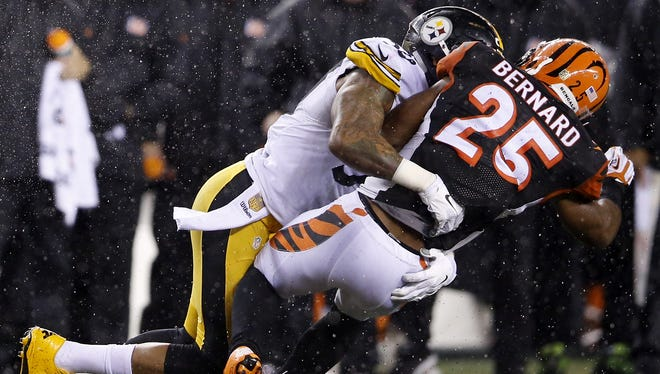 This play, in which Cincinnati Bengals running back Giovani Bernard was knocked out by Pittsburgh Steelers inside linebacker Ryan Shazier, will be part of a NFL report in the league meetings.