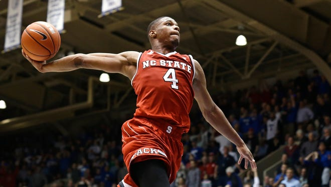 Dennis Smith Jr., freshman point guard, North Carolina State. 6 feet 3, 205 pounds who is an elite athlete. Shot better than expected from three, but has some attitude and effort questions. 2016-17 stats: 18.1 points, 6.2 assists, 4.6 rebounds, 1.9 steals in 34.8 minutes. Shot 35.9% from long range (55-for-153).
