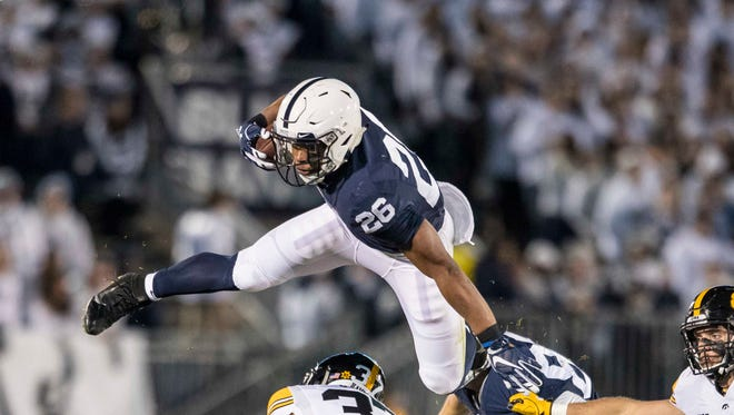 Penn State's Saquon Barkley leads the Big Ten in all-purpose yards, averaging 139.8 a game.