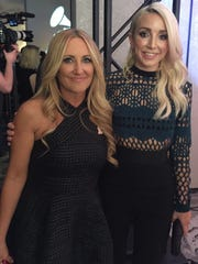 Lee Ann Womack, left, and Ashley Monroe appear in outfits