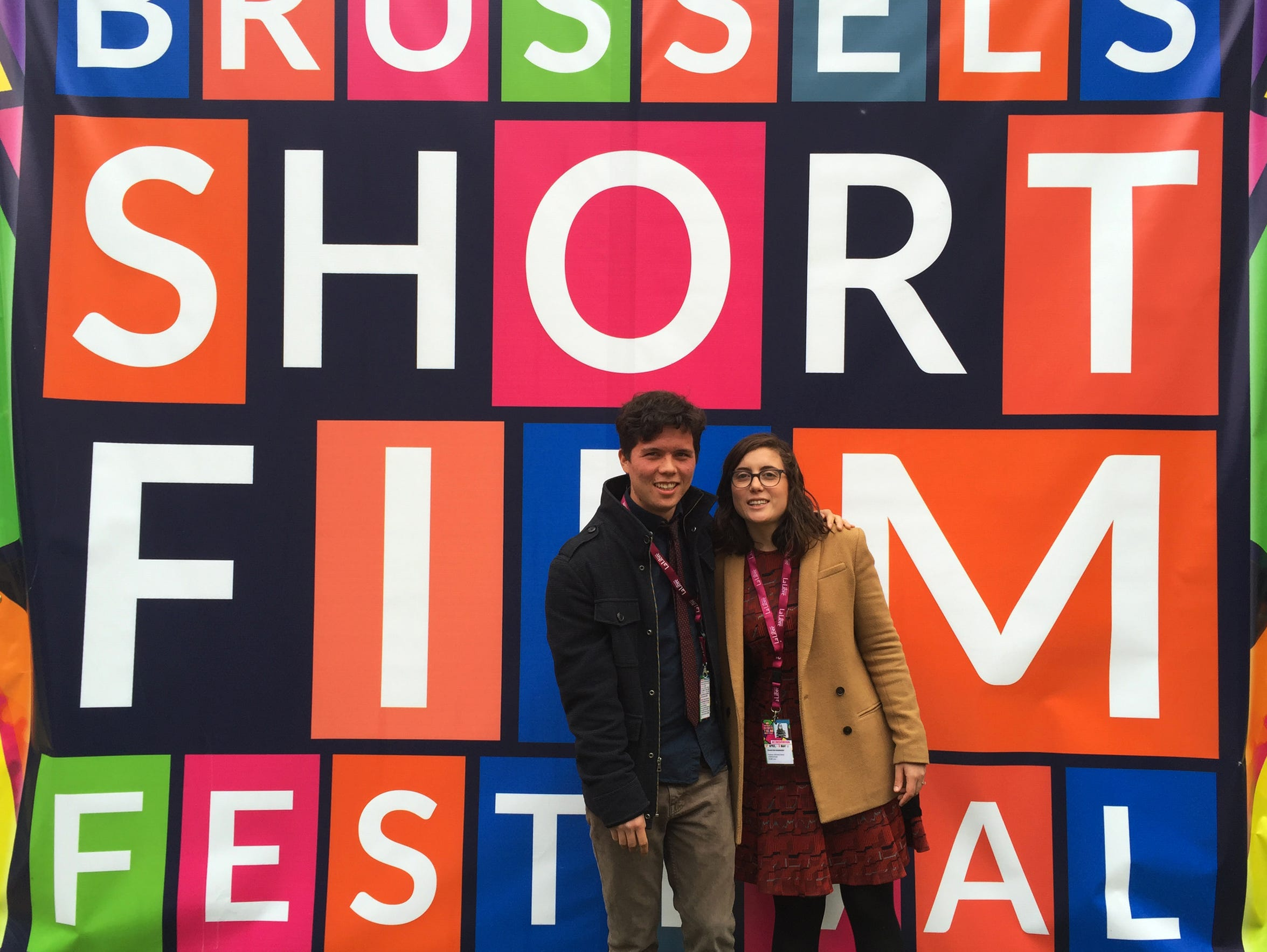 Filmmaker Sheridan O'Donnell and his fiancee at the