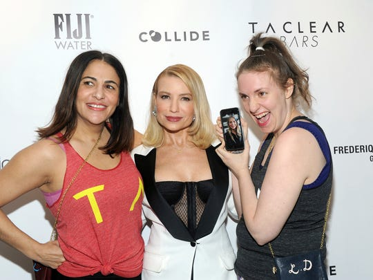 Jenni Konner, left, Tracy Anderson, center, and Lena