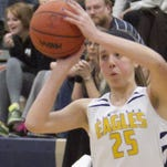 Hartland's Lexey Tobel had 26 points to lead the Eagles to a win over Brighton