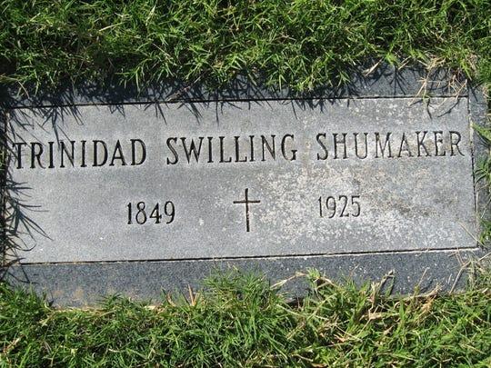 The grave of Trinidad Escalante Swilling Shumaker,
