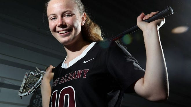 Sophomore Katie Kaucheck scored 20 goals and helped the New Albany girls lacrosse team to its second consecutive Division I state runner-up finish last season. She was eager to assist this season in various roles before spring sports were canceled because of the COVID-19 coronavirus pandemic.