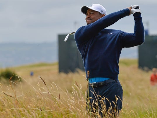 tiger Woodes at British Open