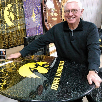Crafting tailgate tables keeps his retirement 'crackling'