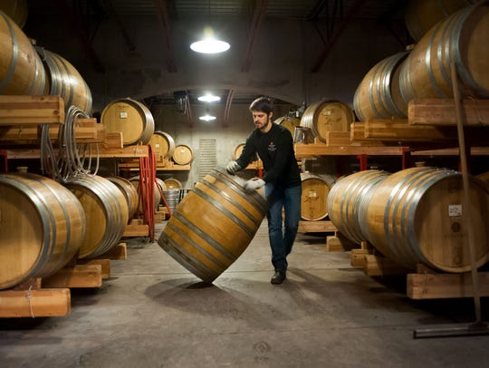 Rich Swanger, assistant winemaker at St. Innocent Winery,