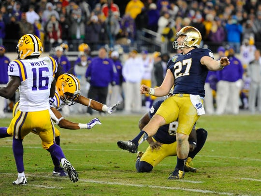 Kyle Brindza (27) is tops on Notre Dame's scoring charts.