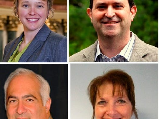 Candidates participating in Wisconsin Assembly Debate Oct. 1, 2014, in Wausau.