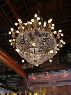 The chandelier at Boca in downtown Cincinnati