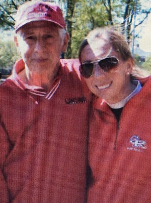 Glen Ridge softball coach Rachael Miscia Hogan and her father Anthony Miscia.